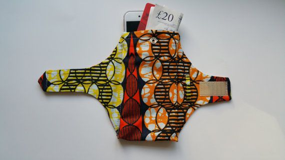 Travel Party Wrist Purse African print Wrist by LilySDesigne