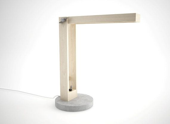 Lampe moderne qui mélange le bois et le béton par DIMEmexicandesign