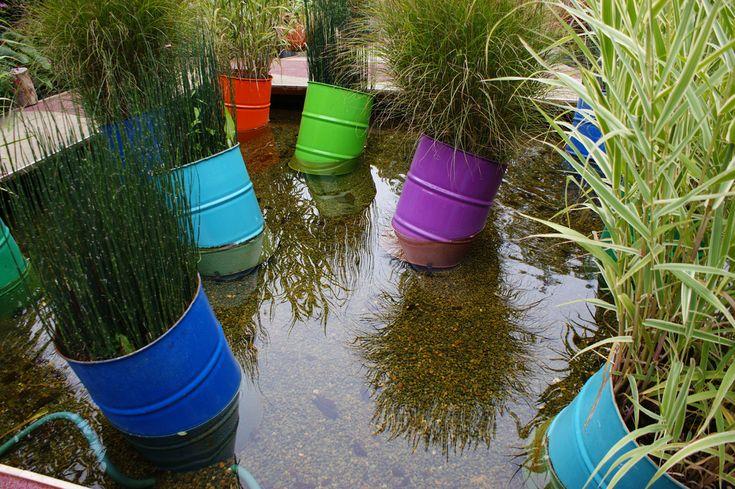 wow.: Sur Loire, Barrels Planters, Water Gardens, Spring Colors, Chaumont Sur, Chaumontsurloir Gardens, Paintings Buckets, Bright Colors, Karl Gercen