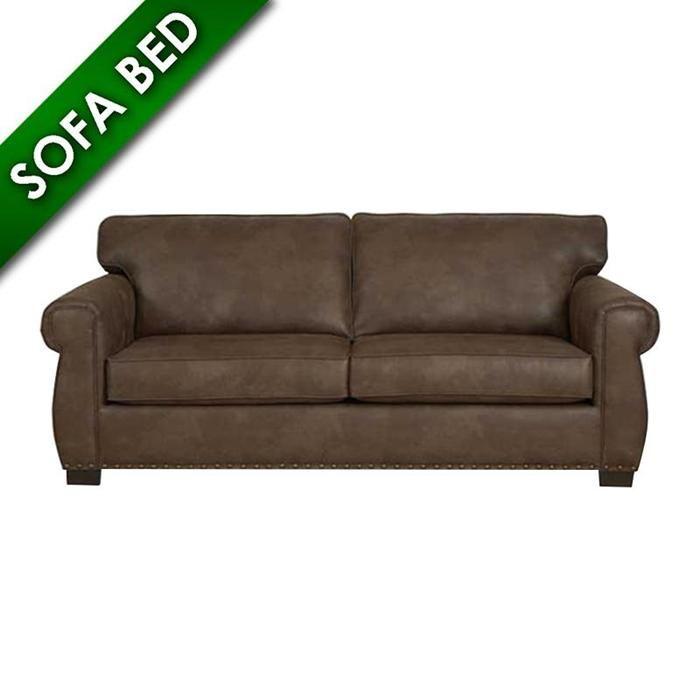 Logan Queen Sleeper Sofa In Coffee Nebraska Furniture Mart