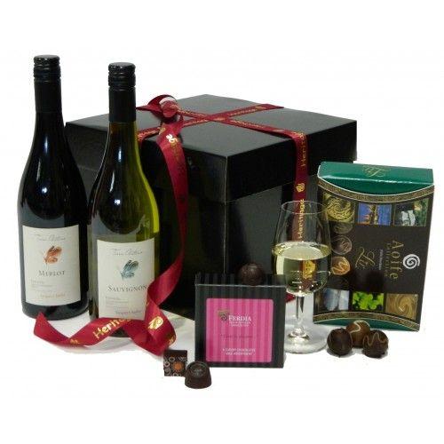 Wine and Chocolate Hamper. Birthday #hampers, #gift ideas, gift #baskets. http://www.heritagehampers.com/occasions/happy-birthday-gifts-/wine-and-chocolate-hamper