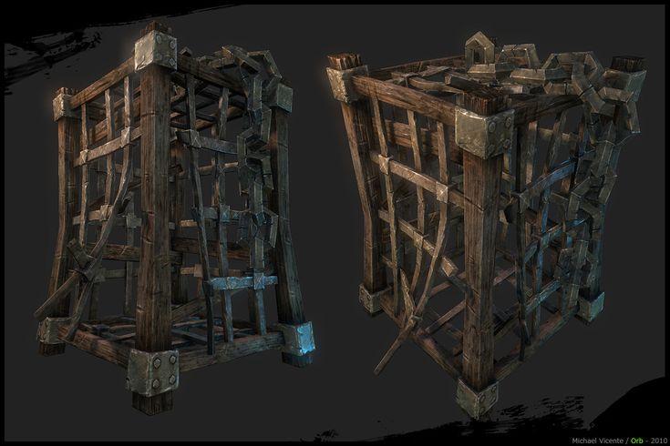 Wooden Cage 3D Model  (Michael Vicente, 2010)
