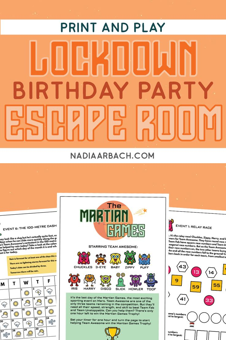 Escape room fun for a lockdown birthday party in 2020