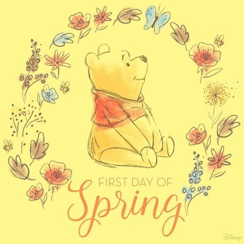 Love me some Pooh Bear and Spring!