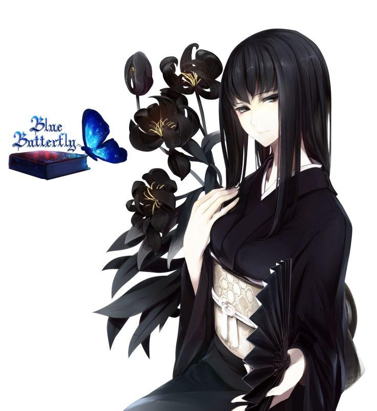 #2 Anime Flowers Girl Render by Butterfly-Blue-B on DeviantArt