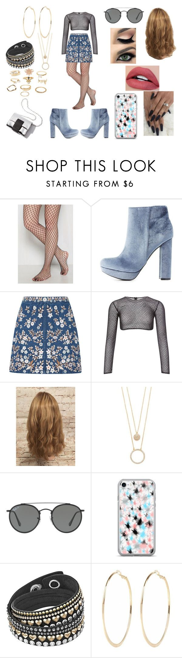 """""""Spring City"""" by roxy-crushlings on Polyvore featuring Charlotte Russe, Needle & Thread, PA5H, Kate Spade, Ray-Ban and River Island"""
