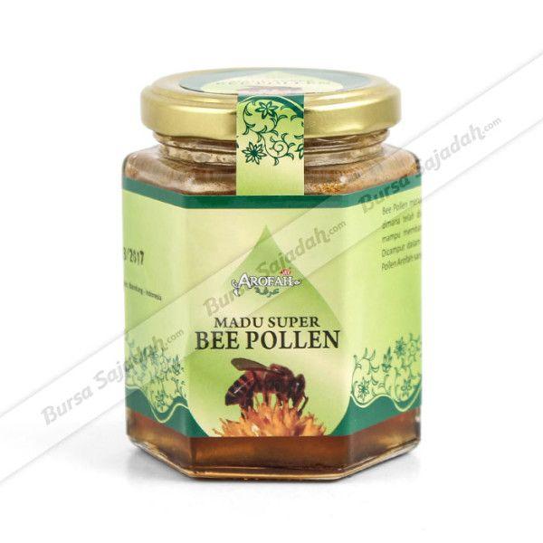 Bee Pollen merupakan serbuk sari yang telah dicampur dengan enzim pencernaan lebah, sehingga menghasilkan kandungan vitamin, mineral, karbohidrat, lipid, & protein yang bermanfaat bagi kesehatan tubuh kita. Dicampur dalam madu hutan lokal pilihan, menjadikan Madu Super Bee Pollen semakin digemari karena manfaat & kelezatannya!