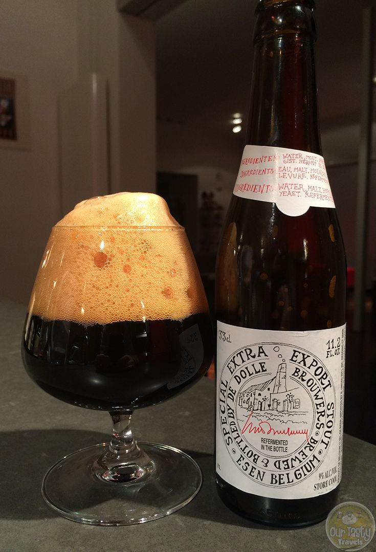 29-Jan-2015 : Extra Export Stout by Brouwerij De Dolle Brouwers. Intense dark chocolate, coffee, and black licorice flavors. #ottbeerdiary