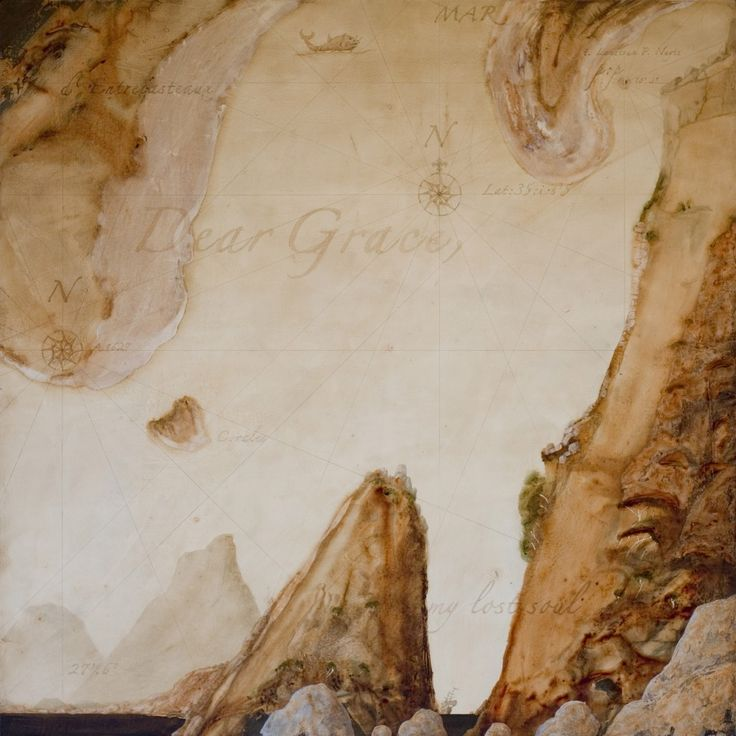 © Andrew Carter 2015<br />Dear Grace<br>Acrylic and oil on canvas<br>100 x 100cm<br>Available