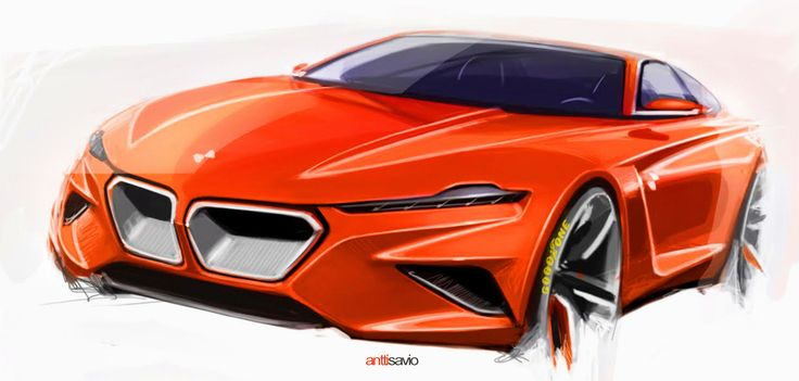 Clockwork orange BMW concept sketch