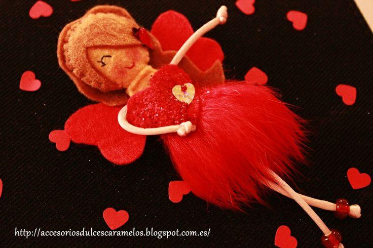 valentina fairy / valentines day http://accesoriosdulcescaramelos.blogspot.com.es/2014/01/hada-valetina-fieltro-san-valentin-2014.html