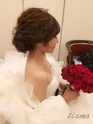 可愛い花嫁さまのMaria Elenaとルーズシニヨン♡♡ の画像 大人可愛いブライダルヘアメイク 『tiamo』 の結婚カタログ