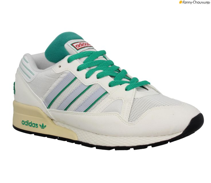 Chaussures pour homme Adidas. ADIDAS ZX 710 toile + velours Homme Blanc +  Vert