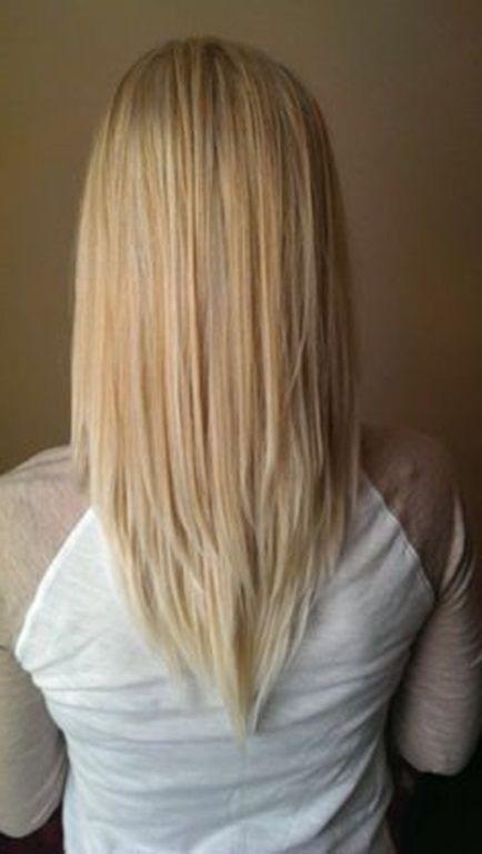 V haarschnitt vorne