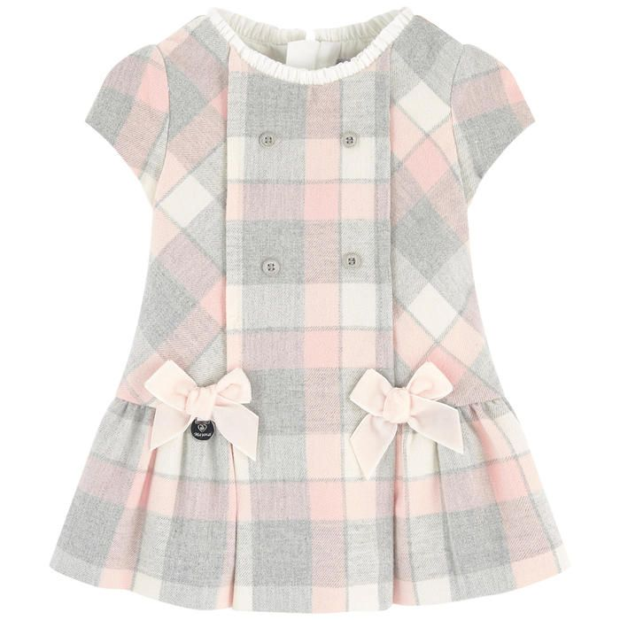 Cotton and polyester flannel, Fine cotton lining, Dress:, Stylish and soft item, Crew neck, Flounced collar, Short sleeves, Small skirt, Flared shape, Invisible
