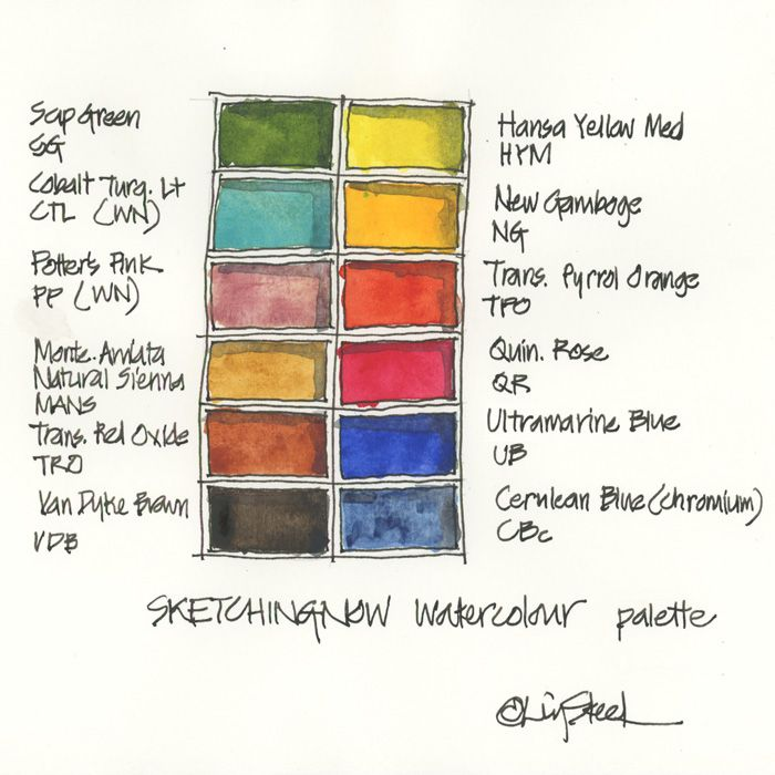 Updated 12 Colour Palette Winsor And Newton Watercolor