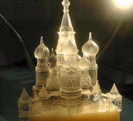 Transparent 3D Printed Architecture. Material: Objet VeroClear Transparant. Photo: Stratasys HQ.