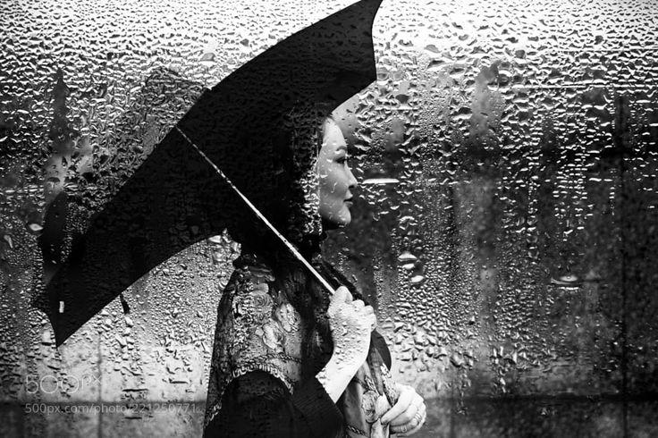 in the rain by MonikaSandrova