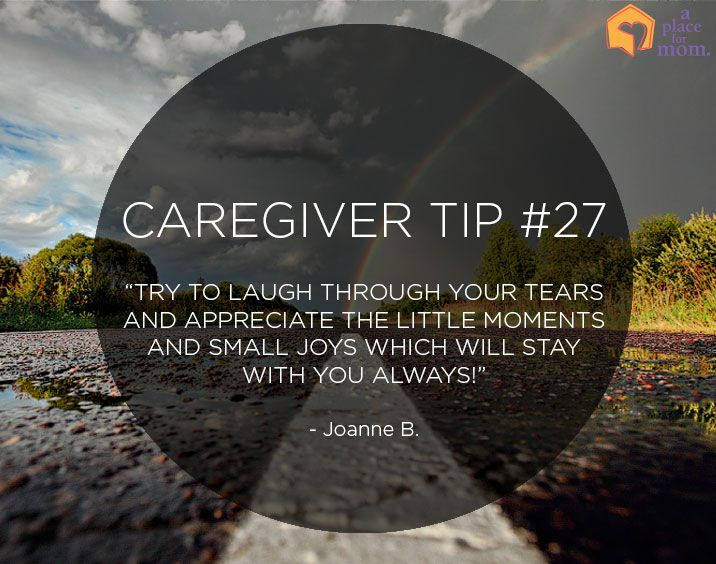 Caregiver Tip #27: Laugh Through Your Tears