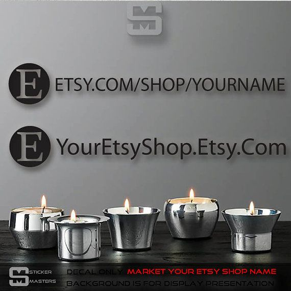 Etsy sticker with YOUR name on it! Get more followers and sales by marketing your Etsy shop name on your car or truck or anywhere you see fit! Applies on vehicles! Help advertise your business and get your name out there. This is a awesome custom social media marketing sticker custom made for you by stickermasters. If you need a font not listed to match your like just email me today and i will make sure you get what you need. #etsy #etsymarketing #etsystickers #etsytraffic #stickers