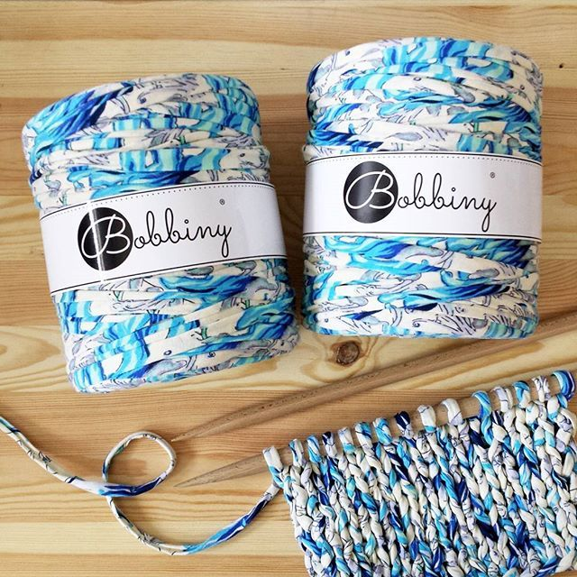 We  prints #bobbiny #premium #quality #tshirtyarn #trapillo #trapilho #cottonstring #cotton #cord #yarn #print #design #recycling #crochet #knit #knittersofinstagram #macrame #home #decor #inspiration #szydełko #rękodzieło #sznurek #druty #handmade #madeinpoland