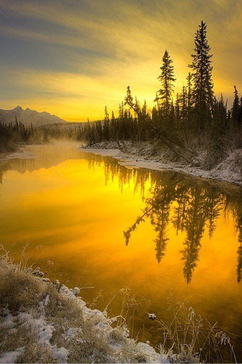 Sunrise at The Glory Hole springs (Jasper National Park, Alberta) by Scott Dimond