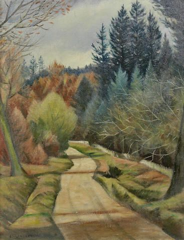 """Road through a Forest"" by Richard Nevinson, c.1920s"