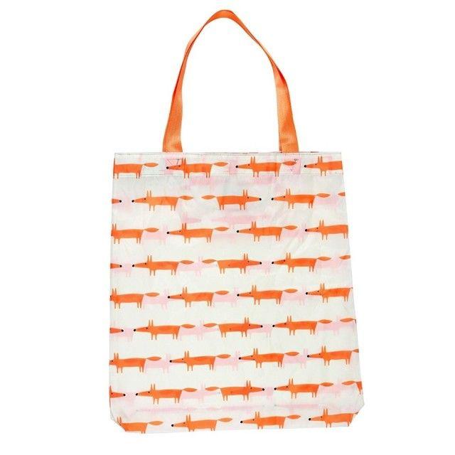 Reusable Shopping Bag in Cream 'Mr Fox' Design from Scion Living
