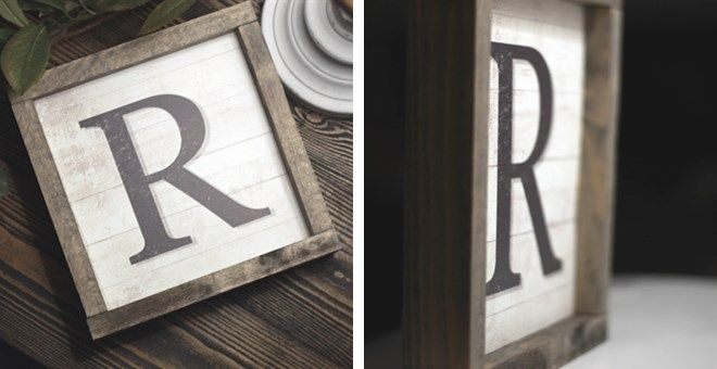 These rustic letter farmhouse sign features beautiful neutral tones that will fit any home decor space! Made in USA.