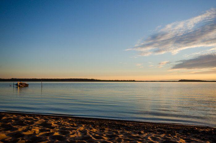 Coucher de soleil sur le Lac Macamic