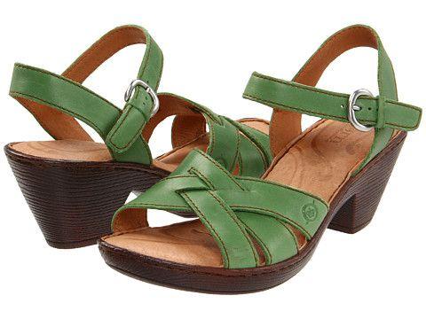 Born Belinda Sandal Mandelin Full Grain/Green - 6pm.com