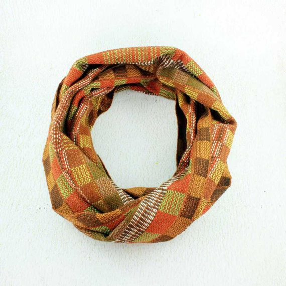 Brown Plaid Scarf Plaid Infinity Scarf Handwoven Scarf   https://www.etsy.com/listing/241559548/brown-plaid-scarf-plaid-infinity-scarf