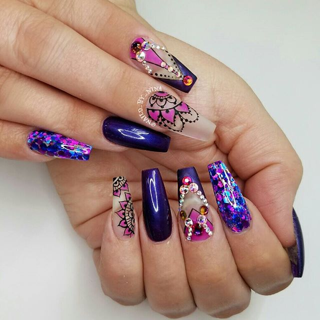The 25 best encapsulated nails ideas on pinterest acrylic nails encapsulated glitter and handpainted art for my lovely tammy with some bling of course prinsesfo Gallery