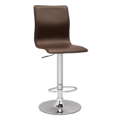 Chocolate brown 'Midnight' gas lift bar stool at debenhams.com