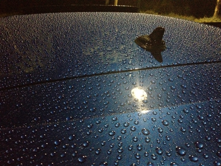 Water beading on paintwork