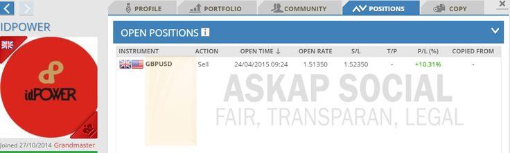Live signal trading dari master trader IDPOWER. // live signal trading forex master traders askap social copy trade