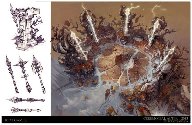 League of Legends - Baron Island, Trent Kaniuga - Aquatic Moon on ArtStation at https://www.artstation.com/artwork/y66BO
