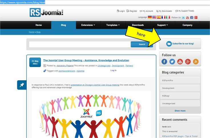"""Don't want to miss our latest articles and tutorials?  Subscribe now via email and get notified of latest #RSJoomla! news every week. Go to the blog https://www.rsjoomla.com/blog.html, click """"Subscribe to our blog!"""" and choose your category of interest!"""