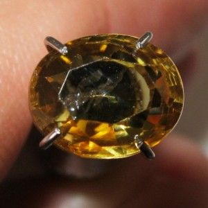 Orangy Yellow Zircon 2.46 carat
