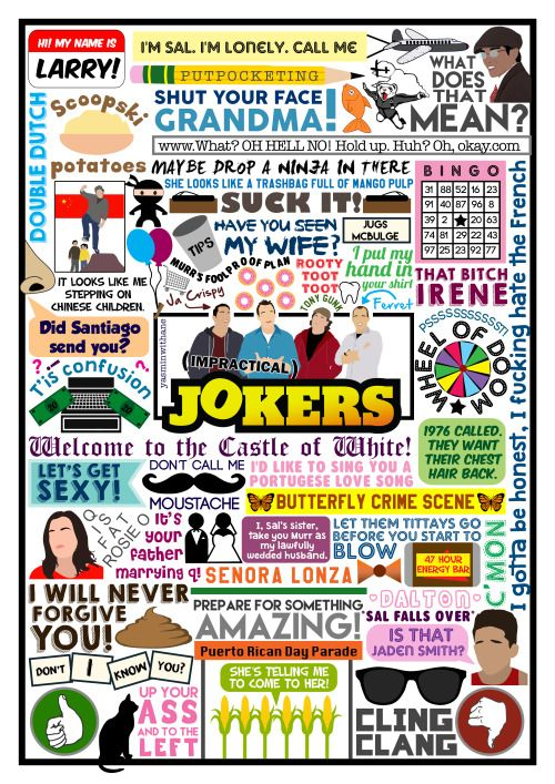 Current obsession - Impractical Jokers. Very excited to go and see these guys on the 28th! (Still super sad I didn't manage to get Meet & Greet tickets.) New season starts tomorrow! WOO-PAAAH