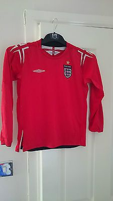 Umbro #england #football shirt kids red away soccer jersey long #sleeved 10-12 ye,  View more on the LINK: 	http://www.zeppy.io/product/gb/2/361751747012/