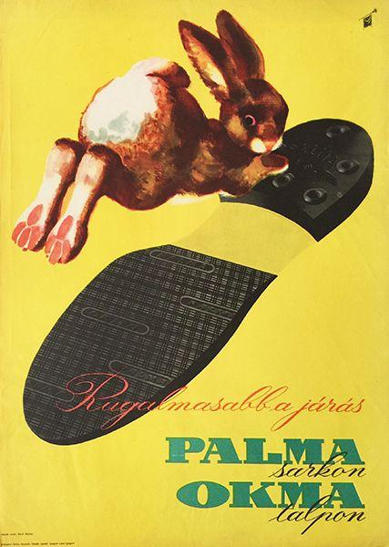 Walking is more flexible on Palma heels and Okma sole (Szilas, Győző - late 1950s - cca. 50 x 70 cm)