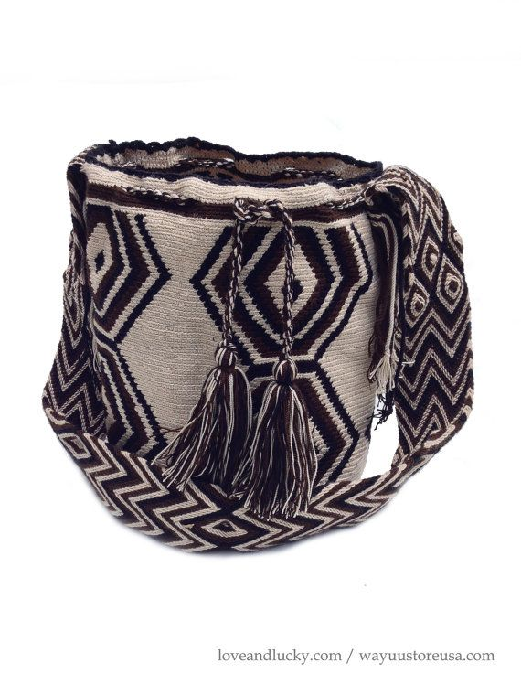 Wayuu Bag Authentic Wayuu Mochila Bags. Crossbody door loveandlucky
