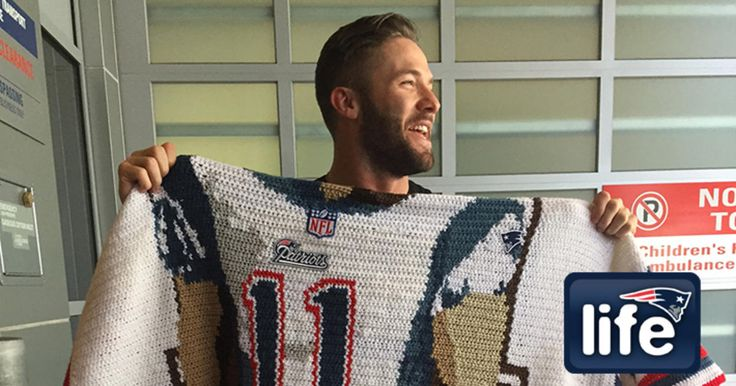 After Julian Edelman's visit to Israel last summer, a new Patriots fan felt inspired to show her gratitude.