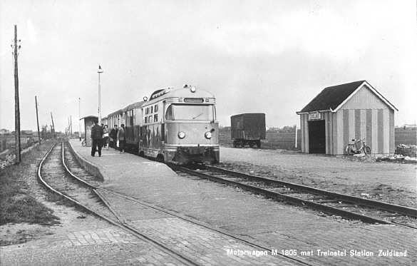 RTM tram op station Zuidland