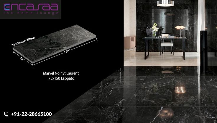Noir Saint Laurent A French marble with a dark background ranging from brown to black, patterned by white intrusions.  #noir #stlaurent #PorcelainFloors #Natural #Marble #Home #Decor #Kandivali #SejalEncasaa #Showroom #Encasaa #mumbai #DreamHome #India #House #LuxuryHome