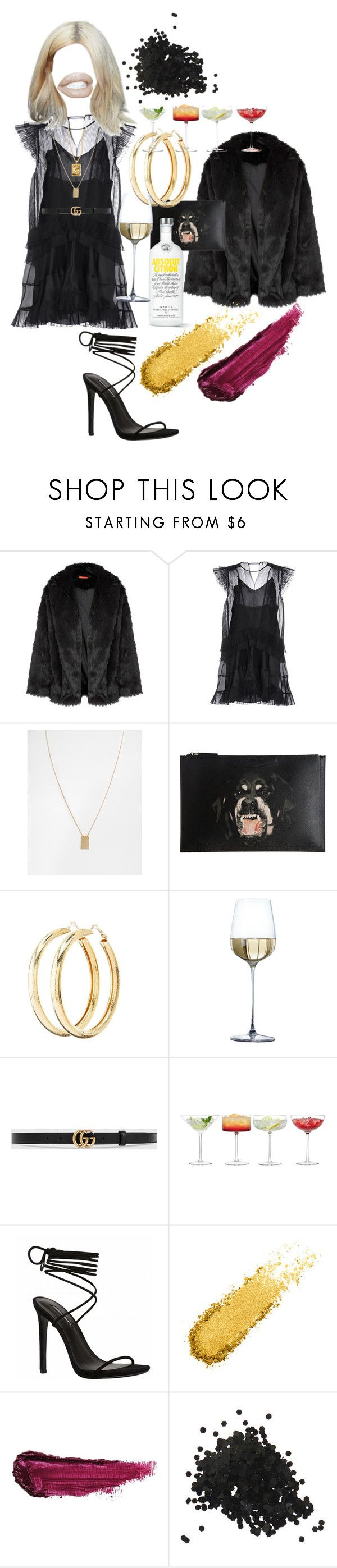 """Untitled #241"" by fashiondisguise on Polyvore featuring Alice + Olivia, Isabel Marant, Pieces, Givenchy, Charlotte Russe, Gucci, LSA International, By Terry and Topshop"