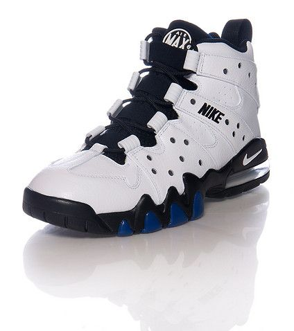 NIKE Charles Barkley stlye Perforated toebox and side Lace and elastic  closure Air bubble.