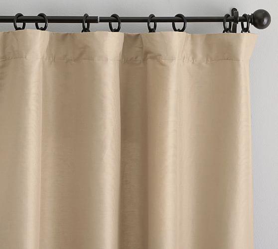 Dupioni Silk Pole-Pocket Curtain – Brownstone