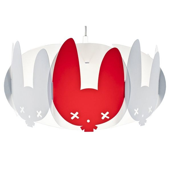 Buxy Lamp for kids - Kafti Design  Lets play bunnies. What about a bunny lamp in kids room? It's available in white, with one customised colour element